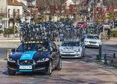 Zeile des technischen teams autos-paris nizza 2013 — Stockfoto