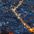 Aerial Night View of Paris — Stock Photo
