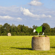 Hay bales during Le Tour de France — Stock Photo
