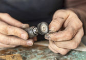 Hands of a Jeweller — Stock Photo