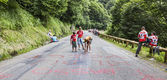 Kids Writing on the Road — Стоковое фото