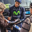 The Cyclist Herada Signing Autograph to Fans — Stock Photo