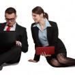 Couple on Laptops — Stock Photo #25293205