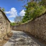 Road Between StoneWalls — Stock Photo