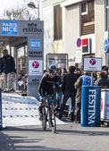 The Cyclist Ian Boswell- Paris Nice 2013 Prologue in Houilles — Stock Photo