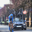 Cyclist Vsummeren Johan- Paris Nice 2013 Prologue in Houilles — Stock Photo #26090435