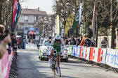 The Cylist Siskevicius Evaldas- Paris Nice 2013 Prologue in Houilles — Stock Photo
