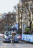 The Cyclist Keizer Martijn- Paris Nice 2013 Prologue in Houilles — Stock Photo