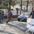 The Cyclist Mathias Frank- Paris Nice 2013 Prologue in Houilles — Stock Photo