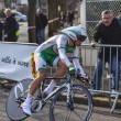 The Cyclist Simon Julien- Paris Nice 2013 Prologue in Houilles — Stock Photo