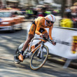 Cyclist AstarlozMikel- Paris Nice 2013 Prologue in Houille — Stock Photo #26127927