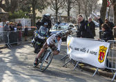 The Cyclist Dumoulin Samuel- Paris Nice 2013 Prologue in Houille — Stock Photo
