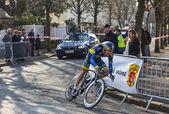 The Cyclist Christensen Mads- Paris Nice 2013 Prologue in Houill — Stock Photo