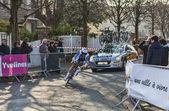 De fietser de gendt thomas-Parijs mooi 2013 proloog in houille — Stockfoto