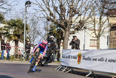 The cycling road race Paris - Nice 2013 in Houilles — Stock Photo