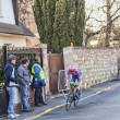 The Cyclist Michele Scarponi- Paris Nice 2013 Prologue in Houilles — Stock Photo