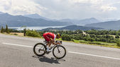 The Cyclist Guillaume Levarlet — Stock Photo