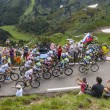 Stock Photo: The Peloton in Pyrenees