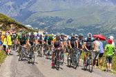 Het peloton in de pyreneeën — Stockfoto