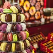 Pyramid of Macarons — 图库照片