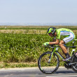 The Cyclist Kristijan Koren — Stock Photo
