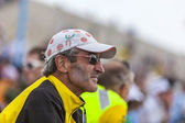 Profile of Veteran Fan of Le Tour de France — Stock Photo