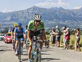 El ciclista laurens diez presa — Foto de Stock
