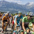 The Peloton in Alps — Stock Photo
