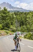 El ciclista cyril lemoine — Foto de Stock