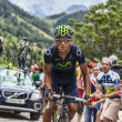Andrey Amador Climbing Alpe D'Dhuez — Stock Photo