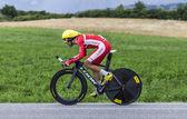 The Cyclist Daniel Navarro — Foto de Stock