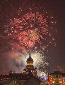 Fireworks in Cluj Napoca — Stock Photo