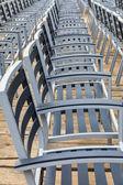 Row of Empty Chairs — Stock Photo