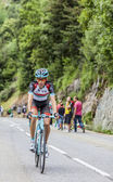 Laurent Didier Climbing Alpe D'Huez — Stock Photo