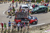 BMC Team Technical Car in Pyrenees Mountains — Stock Photo