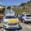 Stock Photo: RAGT Semences Car in Pyrenees Mountains