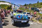 CFTC Car in Pyrenees Mountains — Stock Photo