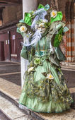 Complex Green Venetian Disguise — Stock Photo