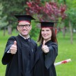 Happy Couple in the Graduation Day — Stock Photo #44791305