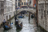 Gondolas on Venetian Canal — Stock Photo