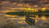 Coucher de soleil sur la Loire en france — Photo