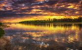 Sunset on the Loire River in France — Stock Photo