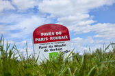 Paris Roubaix- Milestone — Stock Photo