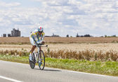 The Cyclist Andrey Kashechkin — Stock Photo