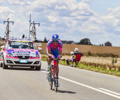 The Cyclist Marco Marzano — 图库照片