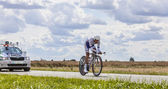 The Cyclist Jerome Coppel — Stock Photo