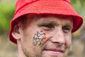 Portret Tour de france wentylator — Zdjęcie stockowe