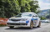 Manfred Stohl Tina Monego Transylvania Rally 2014 — Stock Photo