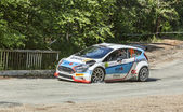 Edwin Keleti - Botond Csomortani- Transylvania Rally 2014 — Stock Photo