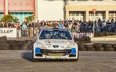 Francois Delecour - Dominique Savignoni- Transylvania Rally 2014 — Stock Photo